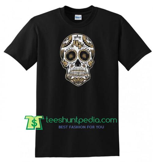 Skull UCF T Shirt gift tees adult unisex custom clothing Size S-3XL