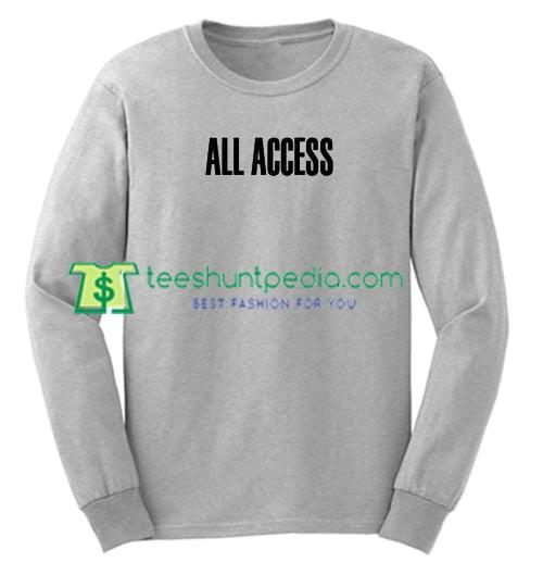 All Access Font Sweatshirt Maker Cheap
