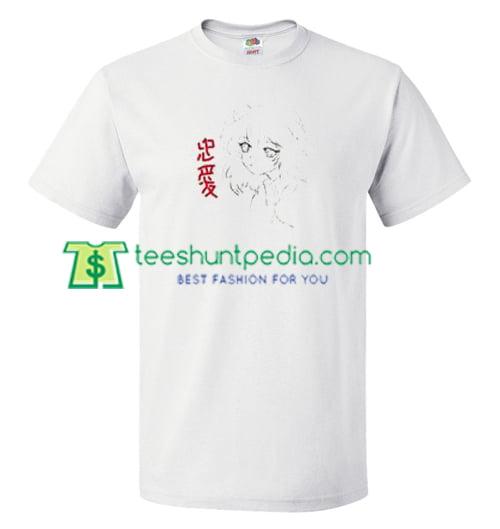Anime Japanese Girl T Shirt gift tees adult unisex custom clothing Size S-3XL