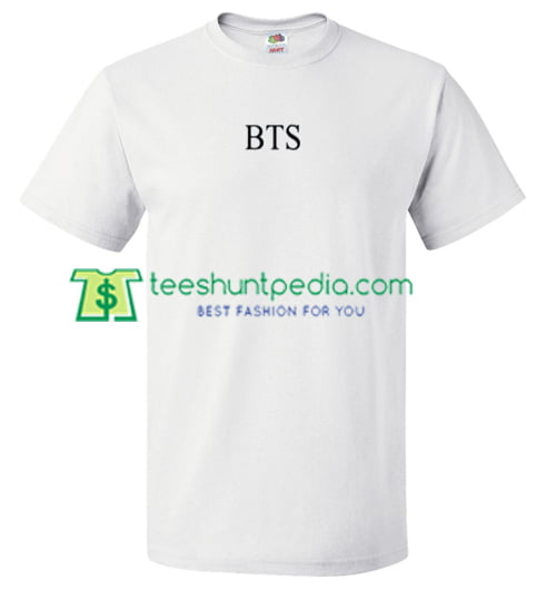 BTS Font T Shirt gift tees adult unisex custom clothing Size S-3XL