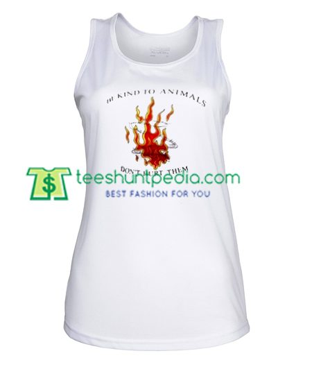Be Kind To Animals TankTop gift shirt unisex custom clothing Size S-3XL