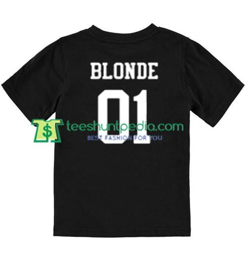 Blonde 01 Back T shirt gift tees adult unisex custom clothing Size S-3XL