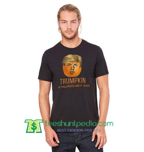 Funny Trump Halloween Trumpkin Pumpkin T Shirt gift tees adult unisex custom clothing Size S-3XL