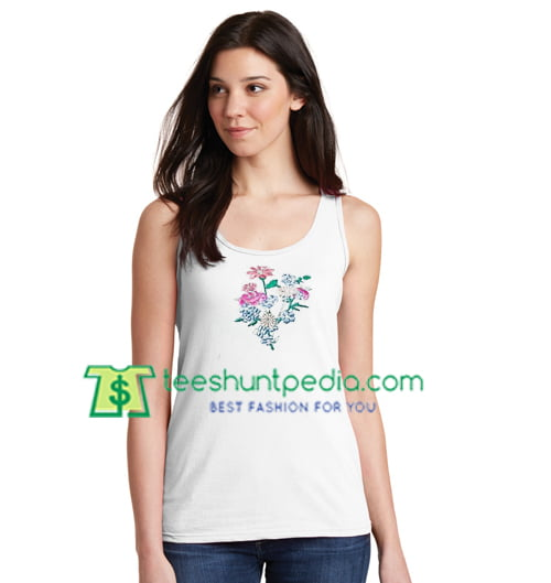 Grunge Flower Tanktop gift shirt unisex custom clothing Size S-3XL