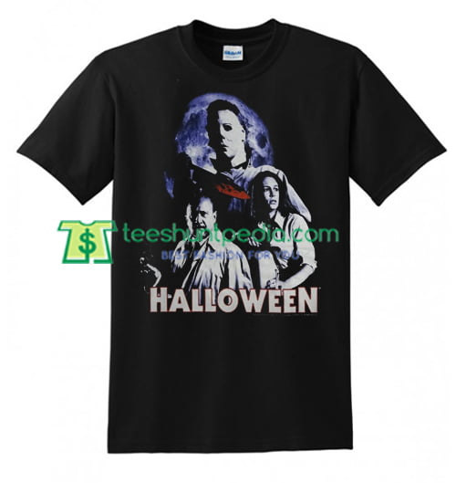 Michael Myers Halloween Movie Dr Loomis Laurie T Shirt gift tees adult unisex custom clothing Size S-3XL