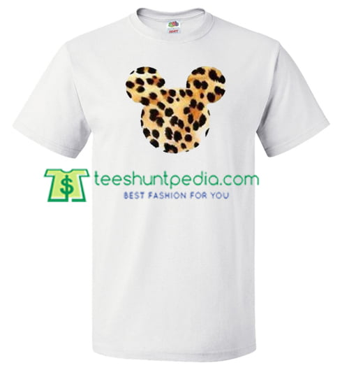 Mickey Mouse transform to leopard head T Shirt gift tees adult unisex custom clothing Size S-3XL