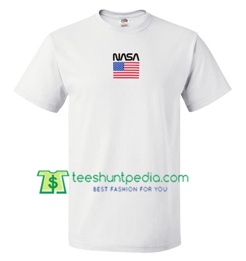 Nasa America Flag T Shirt gift tees adult unisex custom clothing Size S-3XL