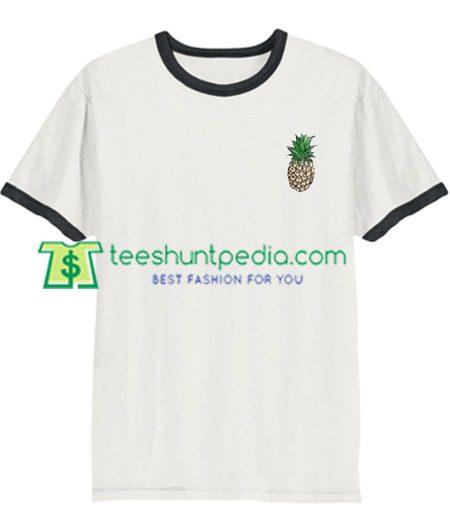 Pineapple Ringer Shirt gift tees adult unisex custom clothing Size S-3XL