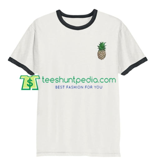 Pineapple Ringer Shirt gift tees adult unisex custom clothing Size S-3XL