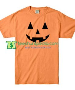 Pumpkin Face T Shirt gift tees adult unisex custom clothing Size S-3XL