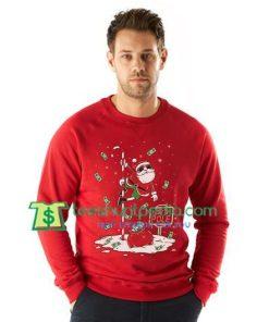 Santa North Pole Funny Ugly Christmas Sweatshirt Maker Cheap