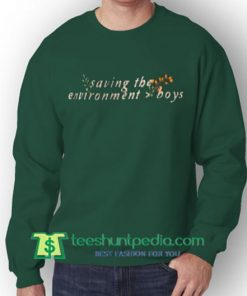 Saving The Environment Boys Sweatshirt Maker Cheap