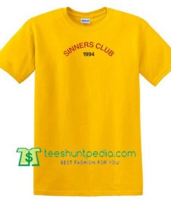 Sinners Club 1994 T Shirt gift tees adult unisex custom clothing Size S-3XL