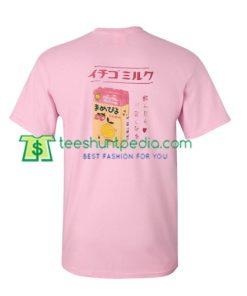 Strawberry Ichigo Milk Back T shirt gift tees adult unisex custom clothing Size S-3XL