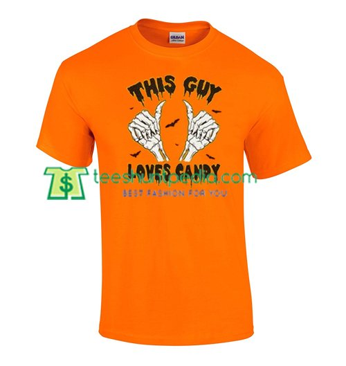 This Guy Loves Candy T Shirt gift tees adult unisex custom clothing Size S-3XL