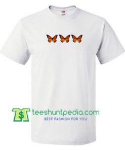 Triple Butterfly T Shirt gift tees adult unisex custom clothing Size S-3XL