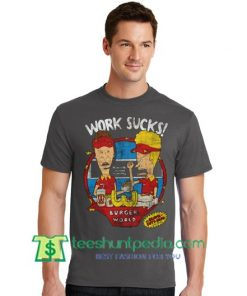 Work Sucks T Shirt gift tees adult unisex custom clothing Size S-3XL