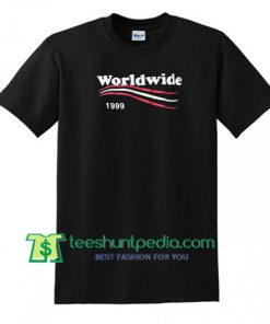 Worldwide 1999 T Shirt gift tees adult unisex custom clothing Size S-3XL