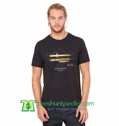 Wright Brothers Flying Machine Patent Tshirt, Aviation Patent Shirt gift tees adult unisex custom clothing Size S-3XL