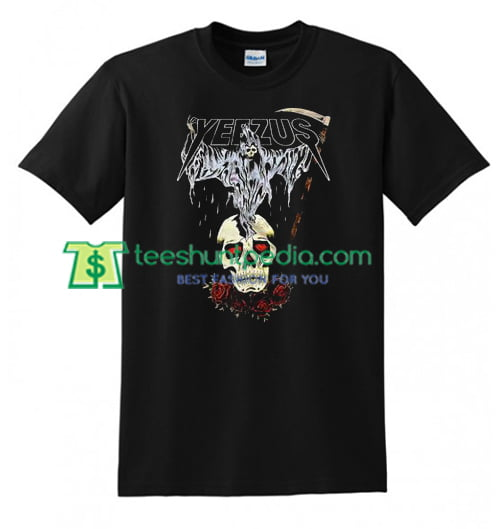 Yeezus Tour Reaper T Shirt gift tees adult unisex custom clothing Size S-3XL