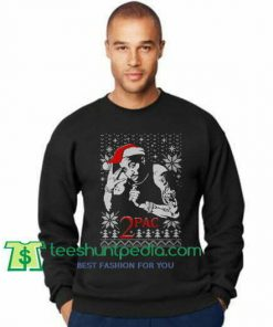 2pac Ugly Christmas Sweatshirt Tupas Shakur Christmas Sweatshirt Maker Cheap