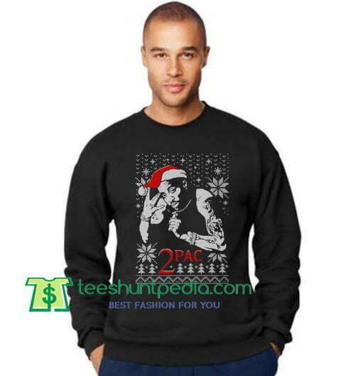 2pac Ugly Christmas Sweatshirt Tupas Shakur Christmas Sweatshirt