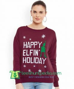 Ariana Grande Santa Tell Me Happy Elfin Holiday Ugly Christmas Sweatshirt Maker Cheap