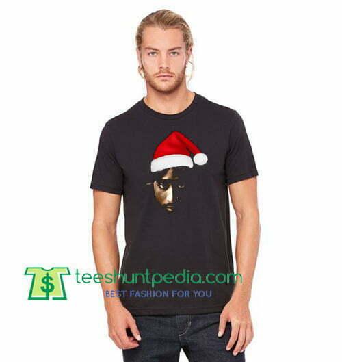 b275bd40fb46 Christmas Santa Tupac Shakur T Shirt Tupac christmas Shirt gift tees adult unisex  custom clothing Size ...