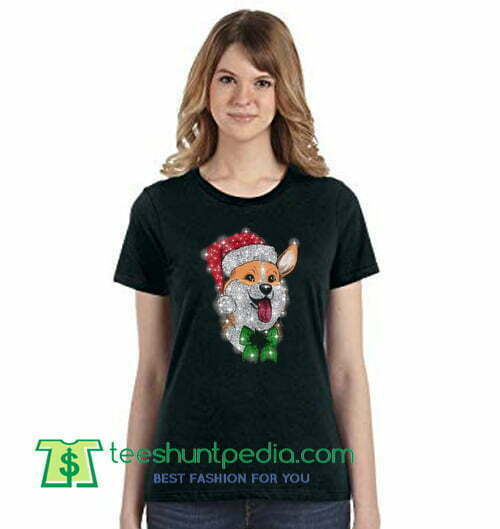 Corgi Christmas Dog Lovers T Shirt gift tees adult unisex custom clothing Size S-3XL