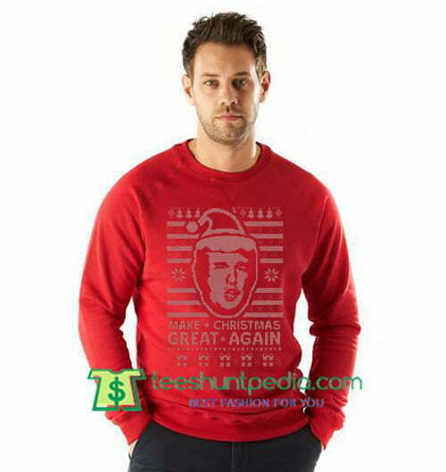 Trump Christmas Sweater.Donald Trump Make Christmas Great Again Ugly Christmas Sweatshirt Maker Cheap