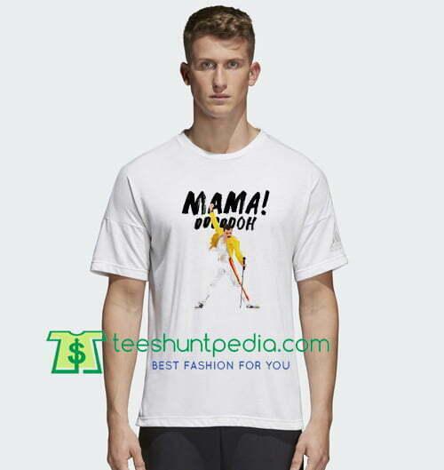 Freddie Mercury T-Shirt Unisex Music Tee Shirt Queen Tee Bohemian Rhapsody Tee