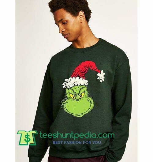 Grinch Christmas Sweater.Funny Ugly Christmas Sweater Grinch Face Sweatshirt Maker Cheap
