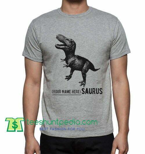 e7dc4ef0 Name Personalized Dinosaur Shirt gift tees adult unisex custom clothing  Size S-3XL