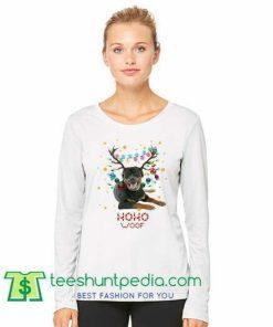 Rottweiler Christmas Woof Dog Lovers Sweatshirt Maker Cheap
