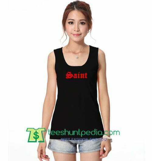 Saint Tank Top gift shirt unisex custom clothing Size S-3XL