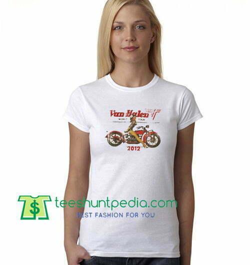 Van Halen World Tour 2012 T Shirt gift tees adult unisex custom clothing Size S-3XL