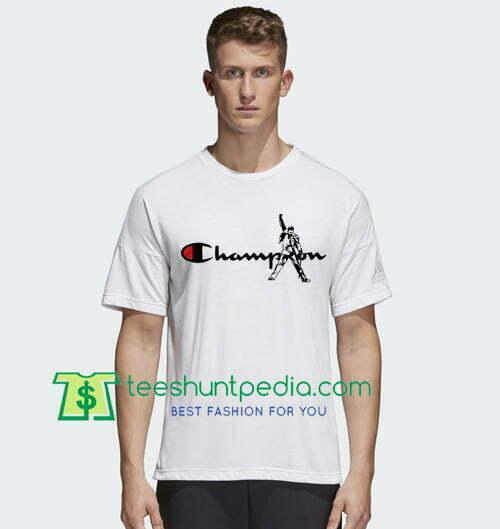 5b1c8b2d We Are The Champions Freddie Mercury Queen Band Bohemian Rhapsody T Shirt  gift tees adult unisex