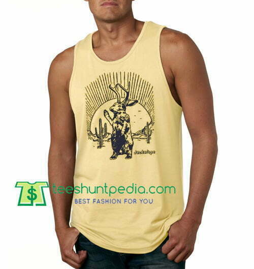 Jackalope Tanktop, UFO Tank Top gift shirt unisex custom clothing Size S-3XL