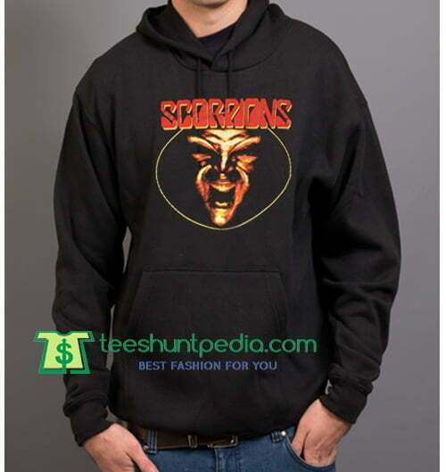 Scorpions Hoodie Vintage 1994 Face The Heat Tour 94 90s Band Heavy Metal Rock Hoodie Maker Cheap