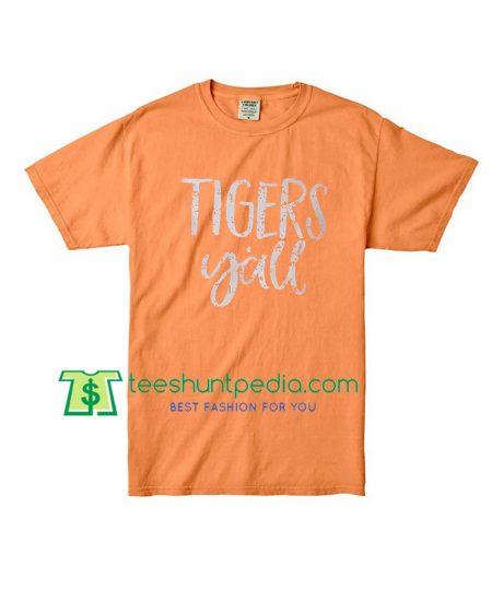 Tigers Yall Shirt Grunge, Sport