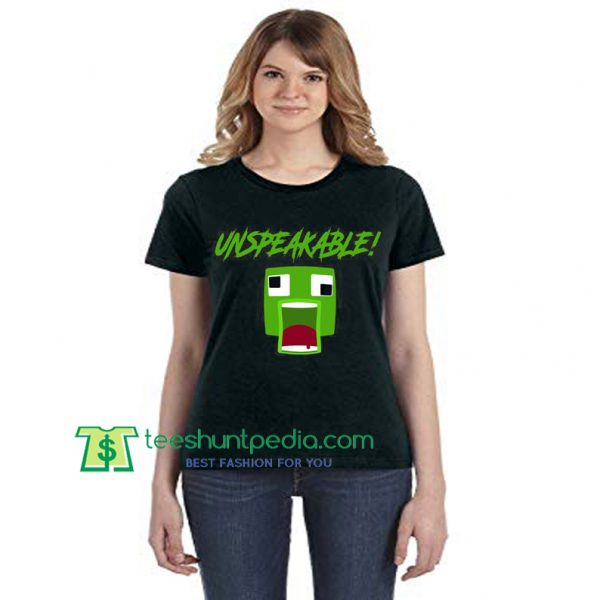 UNSPEAKABLE Minecraft Fan Unisex TShirt