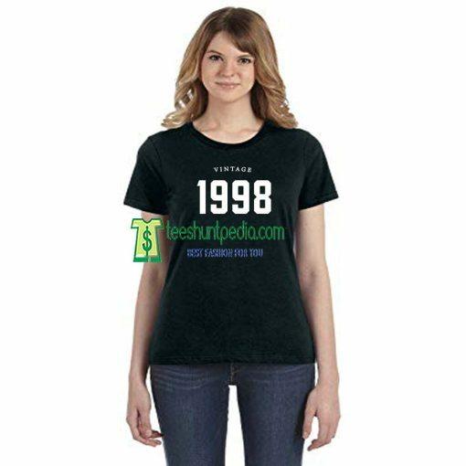 21st Birthday Vintage 1998 Adult Unisex T-shirt Maker cheap