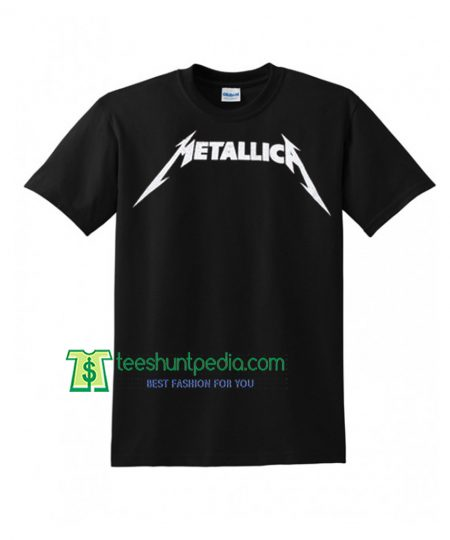 90's Metallica black graphic tshirt illustration top logo Maker Cheap