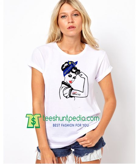 Air Force Wife Rosie the Riveter T-Shirt Military Wife Maker Cheap