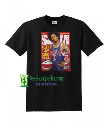 Allen Iverson SLAM Cover Adult Unisex T-Shirt Maker cheap