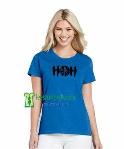 Basketball MOM Off Shoulder Tshirt Sport Mom Shirt Mothers Day Maker cheap