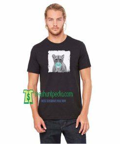 Blue Bubble T-Shirt Lion Blowing Gum TShirt Lion Chewing Shirt Animal Lovers Maker cheap