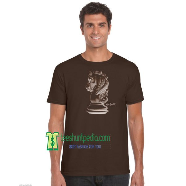 Chess, Knight, Screen Print American Apparel Gift for Men Unisex Tshirt Maker cheap