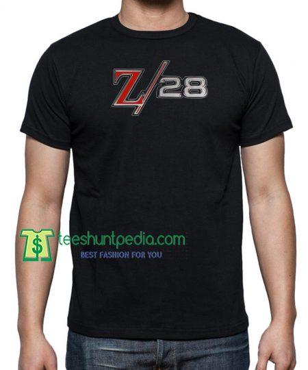 Chevrolet Camaro Z/28 Fender Badge Emblem Chevy Z28 TShirt Maker Cheap