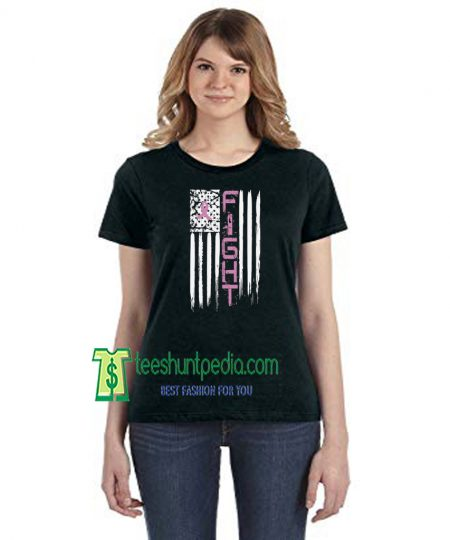 Fight Breast Cancer, Cancer Awareness Gifts Fight American Flag Maker cheap